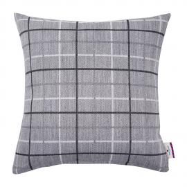 home24 Kissenhuelle T-Grey Wool Check
