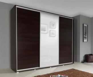 SILVER - Wenge large wardrobe