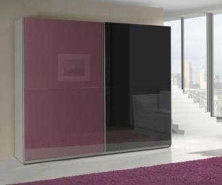Presta violet 3 - violet and black wardrobe