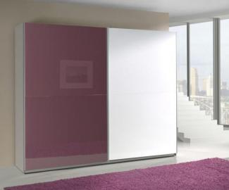 Presta violet 4 - white and violet wardrobe armoire