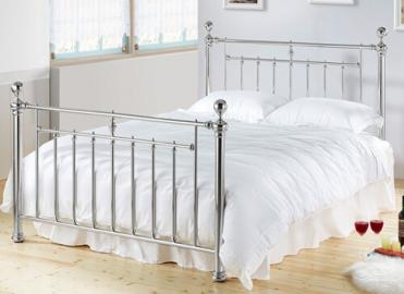 "Time Living Chrome Alexander Bed Frame - King Size (5' x 6'6"")"