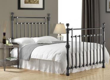 "Time Living Chrome Edward Bed Frame - King Size (5' x 6'6"")"