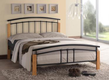 "Time Living Black and Beech Tetras Bed Frame - Single (3' x 6'3"")"