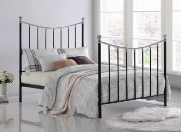 "Time Living Black Vienna Bed Frame - King Size (5' x 6'6"")"