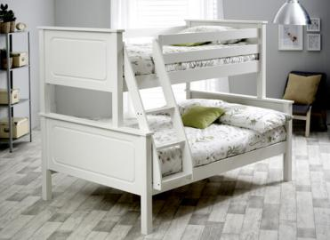 "Bedmaster White Ashley Triple Sleeper - Single (3' x 6'3"")"