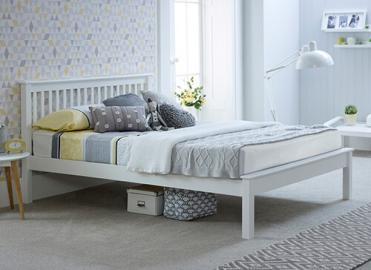 "Bedmaster White Grace Low Foot End - Double (4'6"" x 6'3"")"