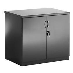 High Gloss Desk High Cupboard Black - I000733