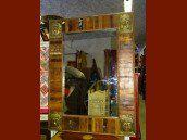 int. d'ailleurs - Recycled teak Buddha mirror 90 x 120 cm - MIR063