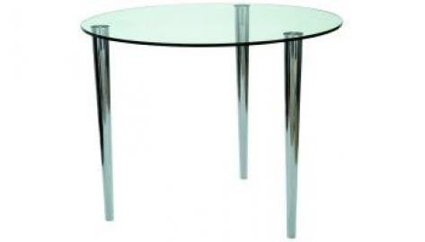 Slender Pin Coffee Table 525 dia frosted/coloured