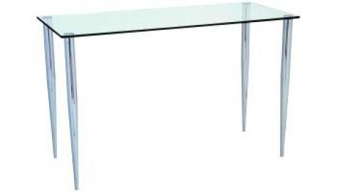 Slender Pin Elbow Table 800 dia clear