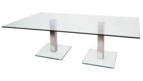 Dual Coffee Table 450 1400 x 800 frosted/coloured