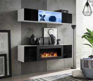 Idea N3 - wall unit with fireplace