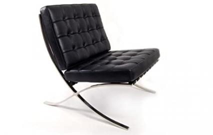 Barcelona chair in cream full aniline Italian leather