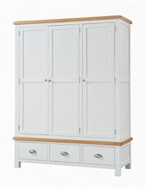 Clevedon Light Grey Painted Triple Wardrobe