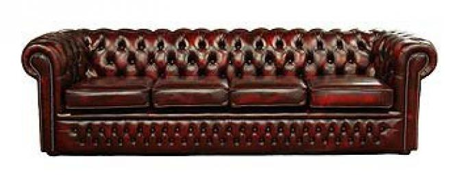 Chesterfield 4 Seater Settee Leather Sofa Offer