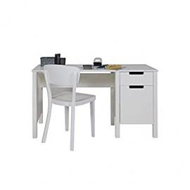 Desk / Kids' work desk JANNY, Wood Pine, white, 140x60cm