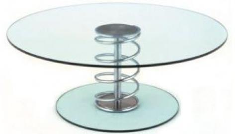Social Coffee Table 1200 dia frosted/coloured