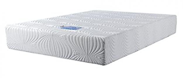 "Concept Memory Sleep Coolflex 20 Coolblue Memory Foam Mattress with Super Luxury ""Knitquilt"" Zip-Off Cover, Fabric, Multi-Colour, King"