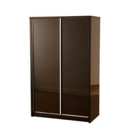 Charisma High Gloss Sliding 2 Door Wardrobe in Black - Color: Black