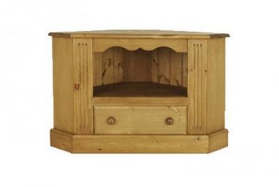 Wye Pine Corner Tv Cabinet - Finish: Wax - Stain: Waterbased
