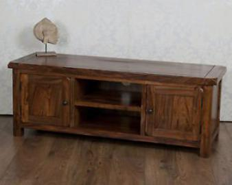 Classically Modern Valencia Solid Sheesham Rosewood Plasma Wide Tv Bench / Cabinet / Stand / Unit