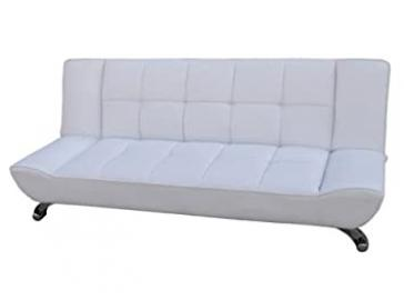 Vogue White Sofa Bed Faux Leather finish