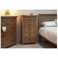 Tilson Solid Rustic Oak Furniture Wellington Chest of Drawers