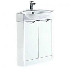 Phoenix Dakota Corner Unit & Basin - White FU082
