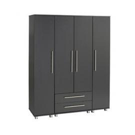 Ideal Furniture 4 Door + 2 Drawers Wardrobe, Wood, Oak