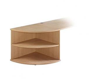 London LCSO Desk End Corner Storage Unit - 725X800X800 - Oak