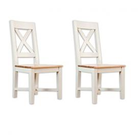Avana painted furniture oak 4 cross back dining table chairs