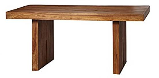 Electra Design Lille Solid Sheesham Wood/Natural Finish Dining Table, 170 x 90 x 76 cm, Brown