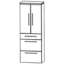 Puris Cool Line Tall Cupboard Bathroom Furniture (Hna096a5m), 60 cm