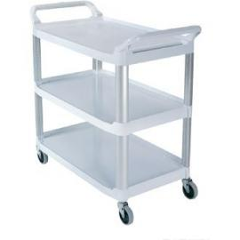 Rubbermaid X-tra Utility Cart / Service Trolley Black - ideal for hotels, restaurants and care homes