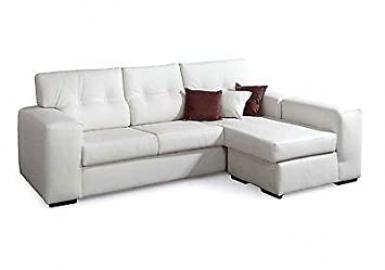 4-Seater Corner Sofa, Faux Leather, for Modern Lounge, Various Colours, Italian Product