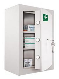 Medicine Cabinet - Key Locking Safe Medical Cabinet - First Aid & Drugs Storage