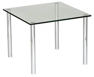 Micro Coffee Table 900 x 900 frosted/coloured