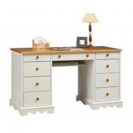 Beaux Meubles Pas Chers–Honey and White Office Minister English Style