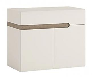 Furniture To Go Chelsea 2-Door Sink Base Unit, 80 x 69 x 48 cm, White Gloss