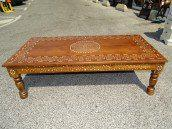 int. d'ailleurs - Coffee table inlaid with camel bone. - PAL057