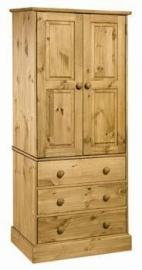 Cotswold new spec 2 door, 3 drawer wardrobe , from centurion pine