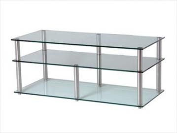 GEM clear Cinema 3 Shelf Hifi/TV Stand 1350x500