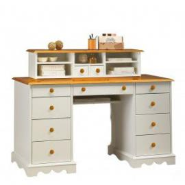 Beaux Meubles Pas Chers 'Notary's Office Desk – White and Honey