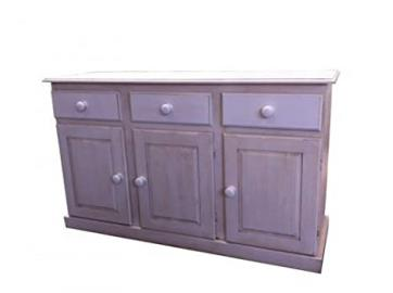 """Wye Pine Distressed 4ft 6"""" Sideboard - Mix - Colour: White"""