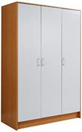 Mountrose  Oslo Beech 3 Door Wardrobe, White Gloss