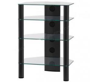 SONOROUS RX 2140 TN. HiFi 4 Sections étagères. aluminium Clear Glass Black