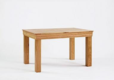 Calais Solid Oak Kitchen Furniture Extending Dining Table