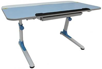 ORE International Kid's Ergonomic Desk with Keyboard Tray - Blue