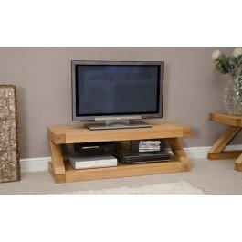 Z Oak Designer TV Plasma Unit