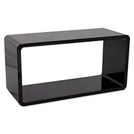 Coffee table RECTO wood (MDF) lacquered (black)